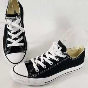 Converse All-Star youth black canvas shoes